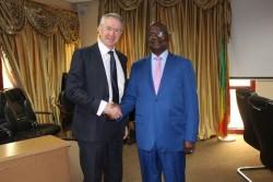 ICC Registrar Peter Lewis meets with Malian Minister of Justice Tiéna Coulibaly © Ministère de la Ju